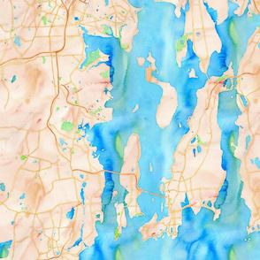 newport area map 18x18