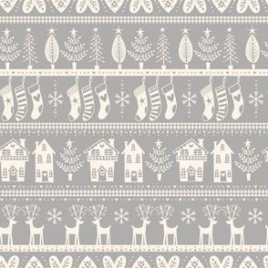 vintage nordic christmas grey