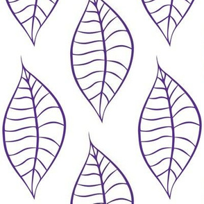 Geometric Grape Purple Leaves