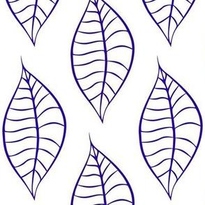 Geometric Blue Blueberry Leaves