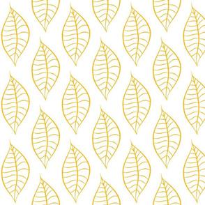 Geometric Yellow Mango Leaves