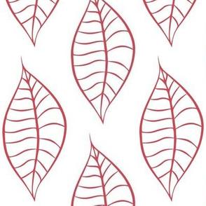 Geometric Berry Blush Leaves
