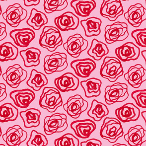 Roses - Pink Background