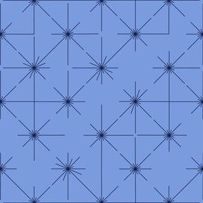 inlines in cornflower blue and navy