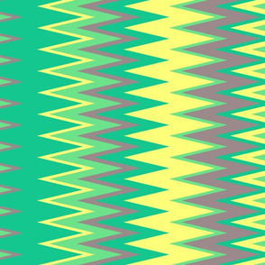 colorful chevron zigzag stripes with green yellow lime & warm gray colors