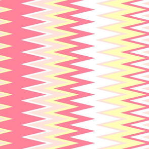beach inspired chevron zigzag stripes in shades of pink & yellow colors