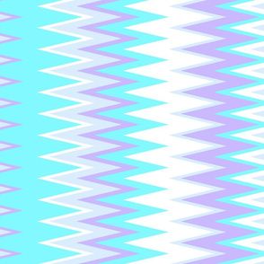cool beach color stripes in chevron zigzags in shades of blue and purple colors