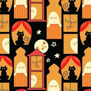 Haunted house windows