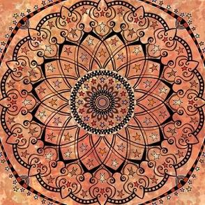 Orange Autumn Mandala