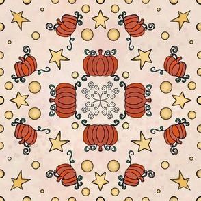 Fall Project 786.1 | Pumpkin Pattern on Cream