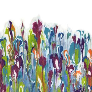 Modern Monet Flower - horizontal original