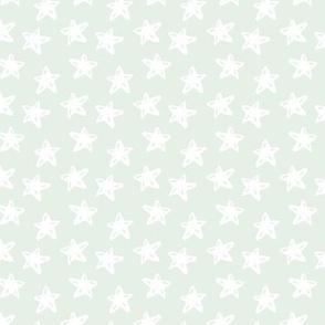 WHITE STARS ON MINT
