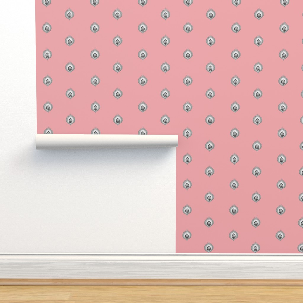 Isobar Durable Wallpaper featuring Peacock4.design1.pink by damiana_