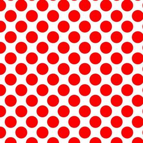 Red Circles Polka Dots