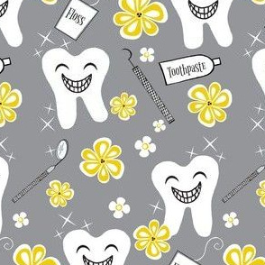 Make Me Sparkle and Shine / grey-yellow /kawaii