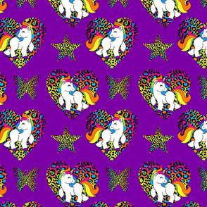 Purple Rainbow Unicorns Large
