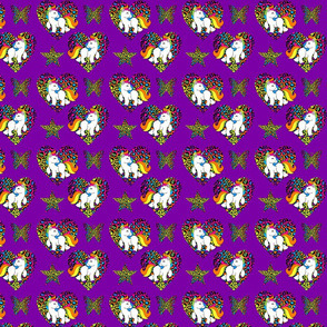 Purple Rainbow Unicorns Small