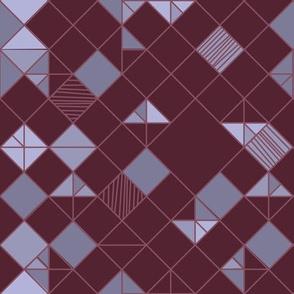 square grid in purple