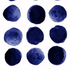 Indigo watercolor boho dots