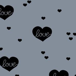 Sweet little lovers hearts romantic confetti valentine love print stone blue