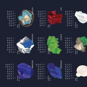 2019 Calendar - Gemstones