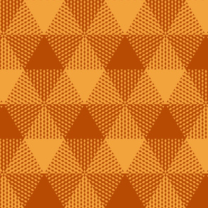 large triangle gingham - terracotta orange and saffron gold