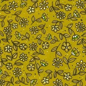 Gold Doodle Wildflowers