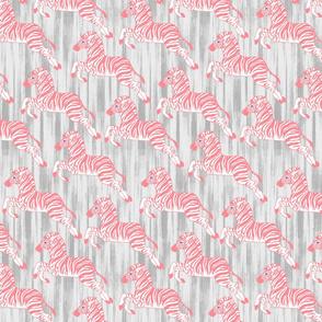 Bright Pink Zebras