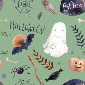 "8"" Halloween Night // Bay Leaf Green"