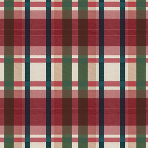Dover plaid_red holiday_
