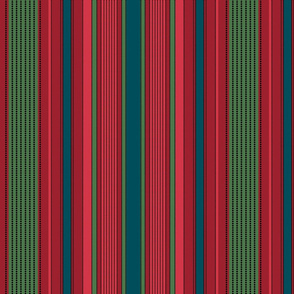 Madras Stripe reds,brown and coral