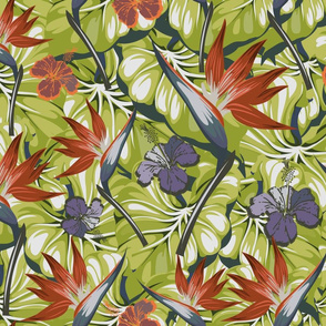 MidCentury Bird of Paradise (Large Repeat)