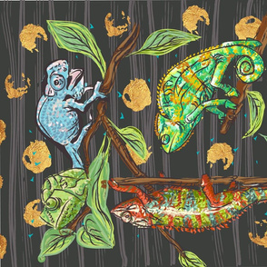 chameleon tea towel