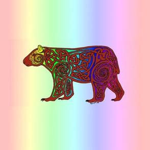 Celtic Rainbow Bear Square