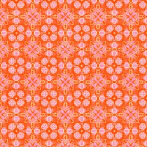 Watercolor abstract Batik, Orange