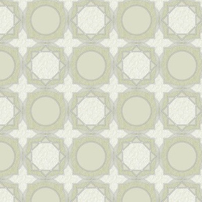 trellis tile 02 gray green