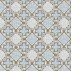 trellis tile 02 blue gold