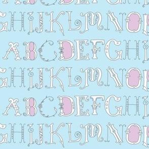 Ornate Alphabet (blue)