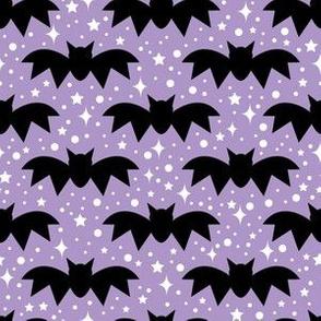 aloha bats on light grape with sparkles