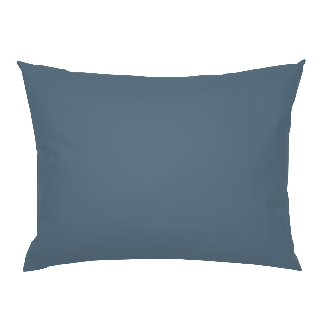 Campine Pillow Sham featuring Solid Coordinating Blue by hudsondesigncompany