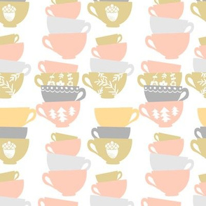 light stacked teacups