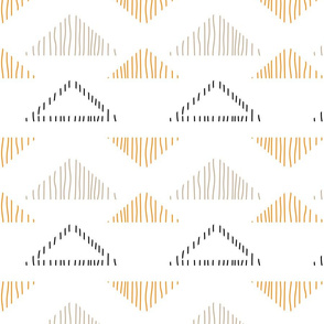 Drawn Tribal Triangles
