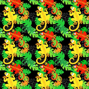 gecko wonderland black, red, yellow