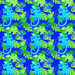 gecko wonderland blue green