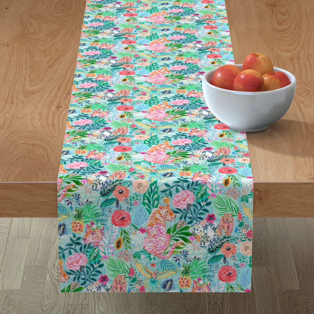 Minorca Table Runner featuring Wildwood by jeanetta_gonzales