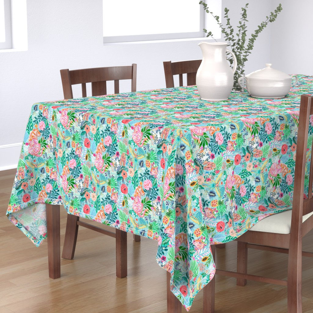 Bantam Rectangular Tablecloth featuring Wildwood by jeanetta_gonzales