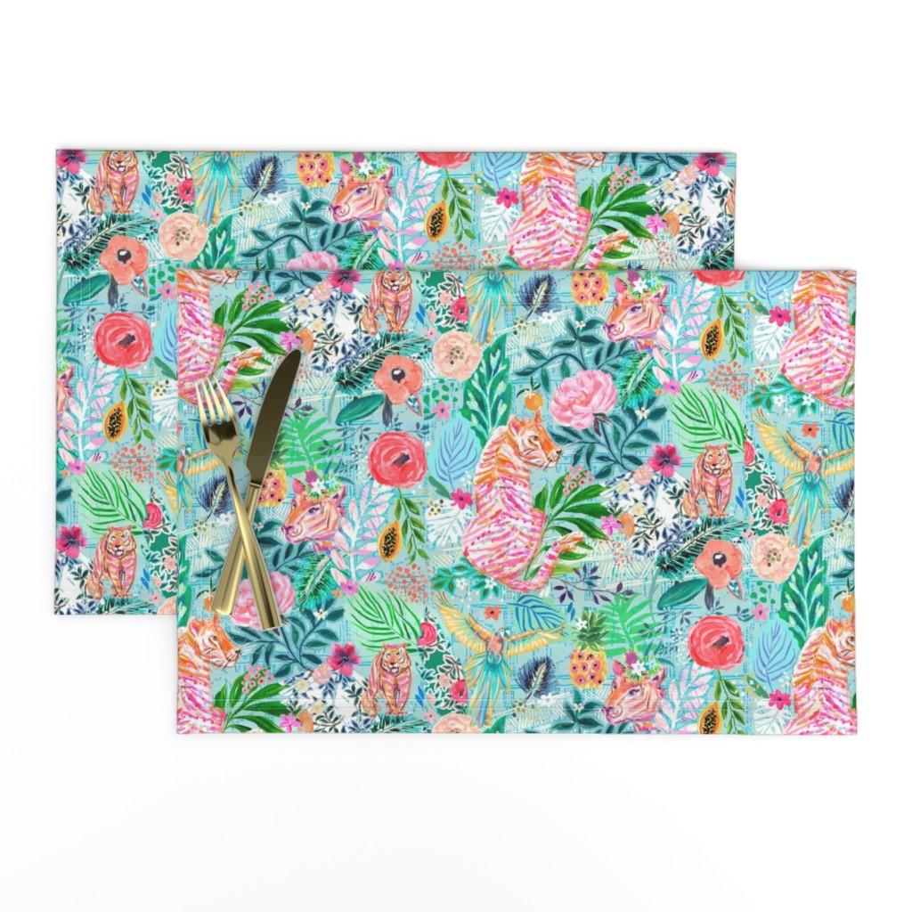Lamona Cloth Placemats featuring Wildwood by jeanetta_gonzales