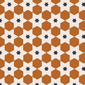 Tile No 02 | Rust + Black + Cream
