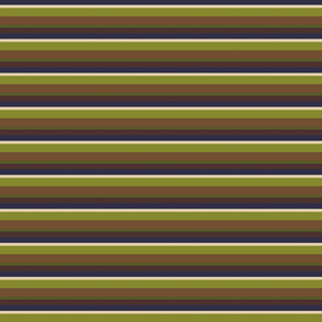 Horizontal stripes Blue Green Brown