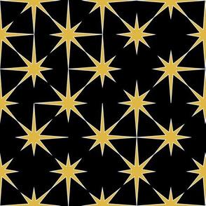 starburst in mustard on black